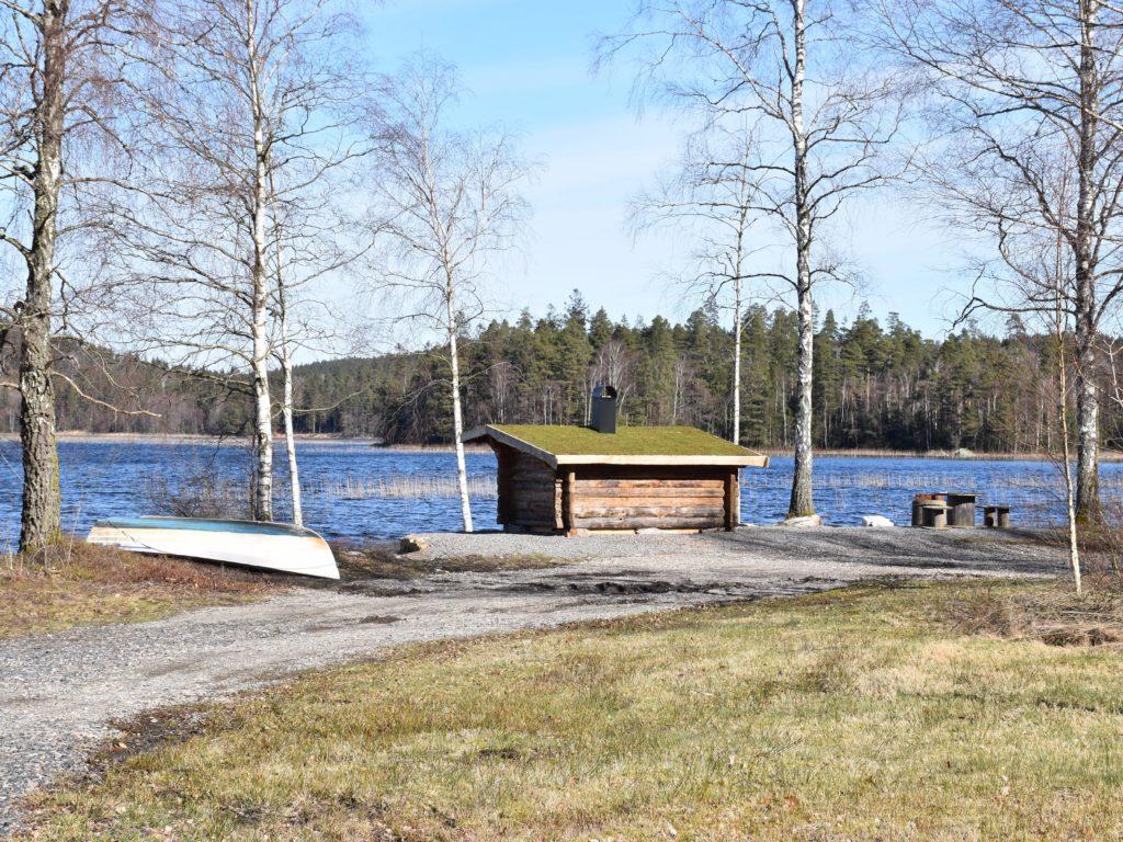 Vindskyddet vid Stora Sävsjön i Gunnarsjö.